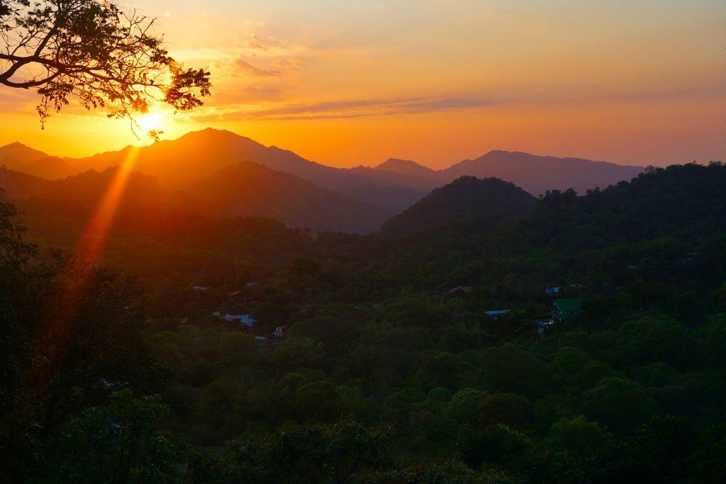 Sonnenuntergang irgendwo in Lateinamerika