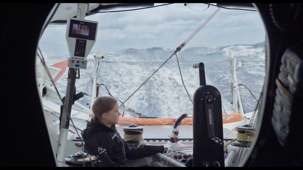 Greta Thunberg auf einem Segelboot