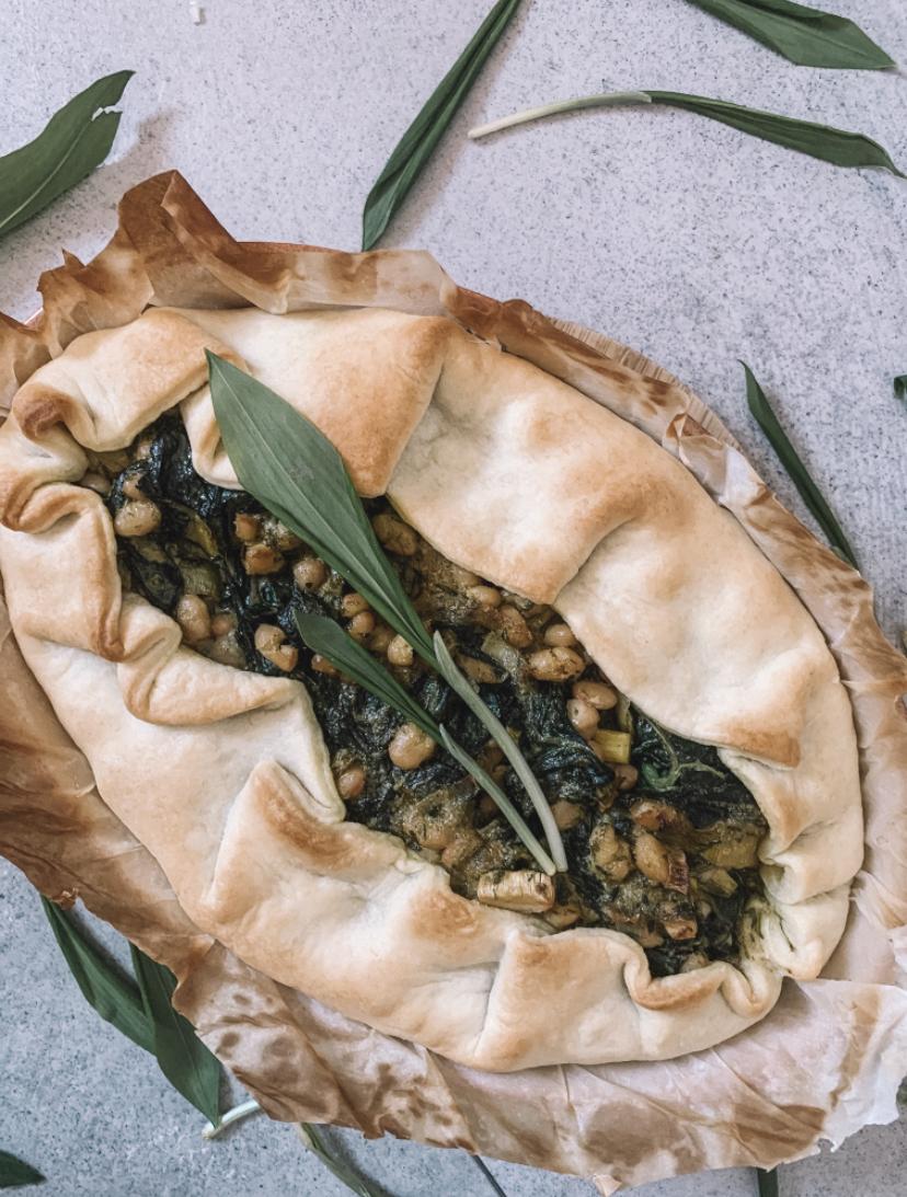 REZEPT: Quiche mit Bärlauch-Pesto und Gemüse der Saison